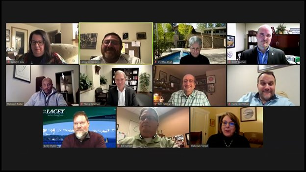 The Lacey City Council met over Zoom on Thu., Jan. 21, 2020.