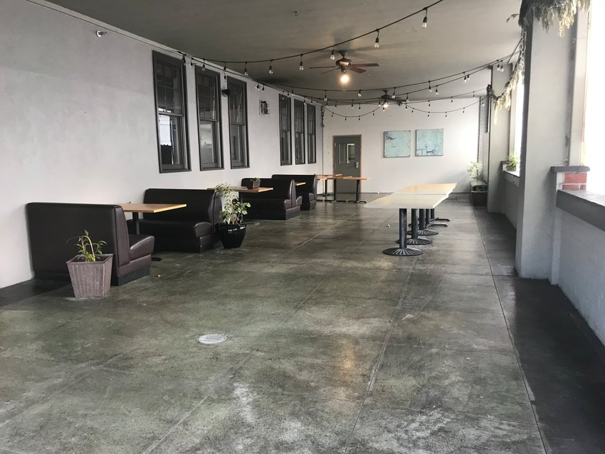 The exterior and patio at Octapas Cafe, located at 610 Water St. SW, a couple hours before opening time on Friday, Jan. 29, 2021.