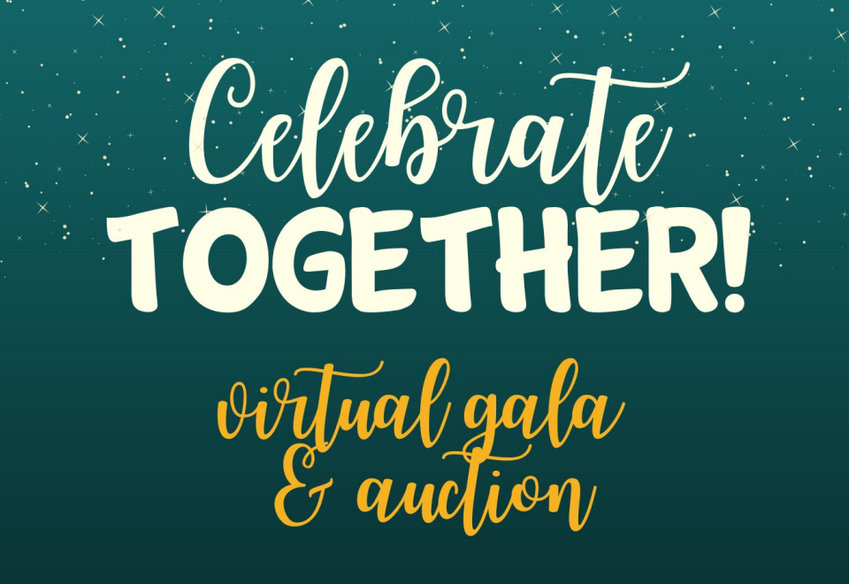 This graphic is from the cover of TOGETHER!'s 2021 Virtual Gala & Auction event program.