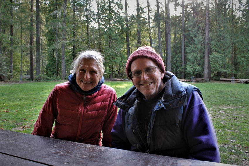 Julia Brayshaw and Kevin Head at Priest Point Park in Olympia on March 13, 2021.