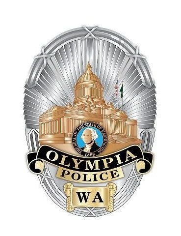 This image is of the shield that every officer in the Olympia Police Department wears or carries.