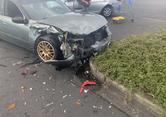 This is the green Nissan Altima allegedly driven by Michael Zimmaro on April 23, 2021.