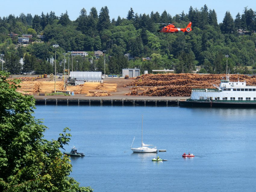 Life vests save lives: The U.S. Coast Guard deployed a chopper to assist in the recovery of a man who had jumped off a boat near the port of Olympia. His body was eventually recovered on Sun., July 18, 2021.