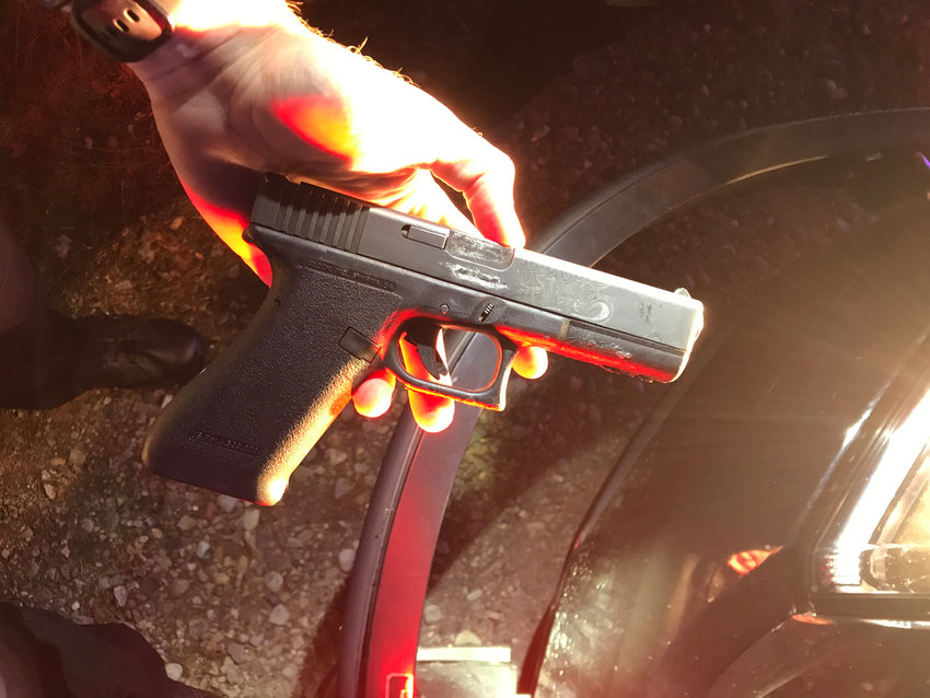 This is the handgun Tumwater police reported finding on Andrew William Minford on Sept. 6, 2021 after he allegedly burglarized Lincoln Creek Lumber in Tumwater.