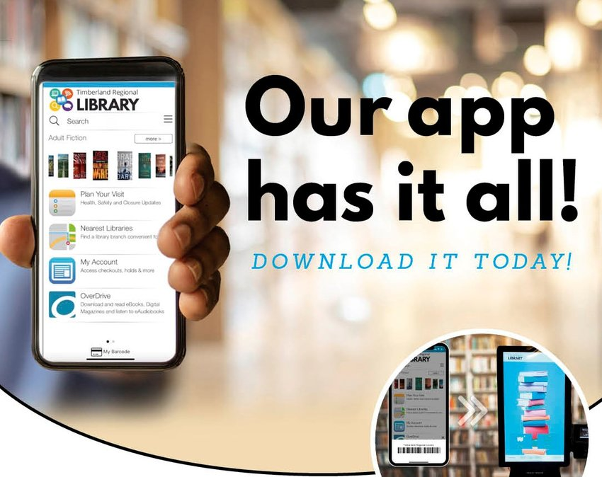 Smartphone users have even easier access to library services through the updated app, for Android and iPhone users.
