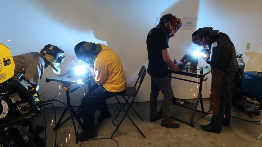 Welding is one of the skills that can be learned at Lacey MakerSpace.