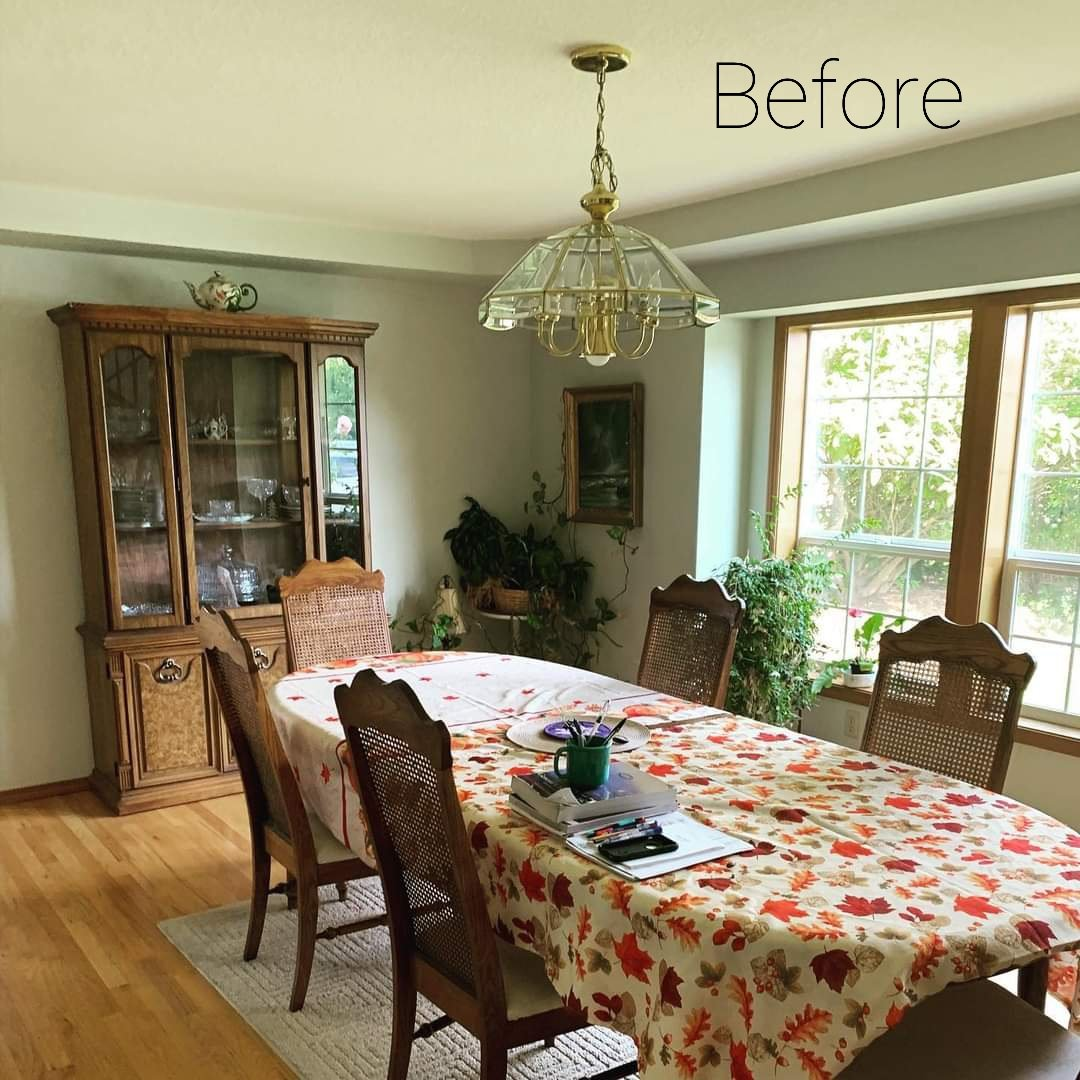BEFORE: A dining room as presented by the sellers of a home in Thurston County.