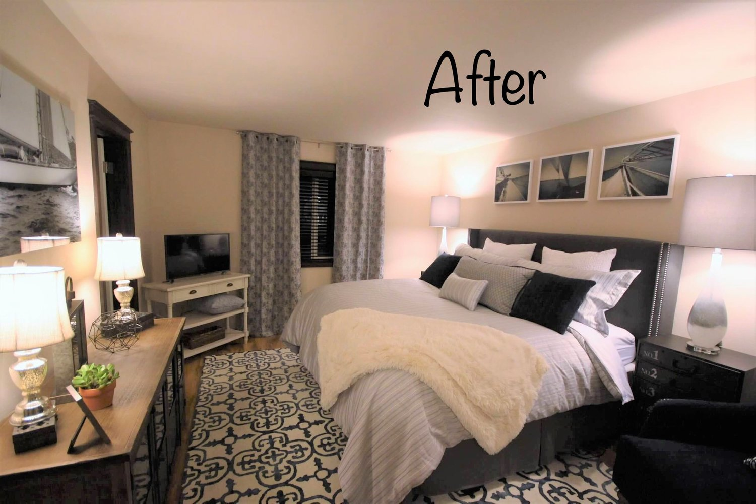 AFTER: The same bedroom with furnishings installed prior to showing the house.