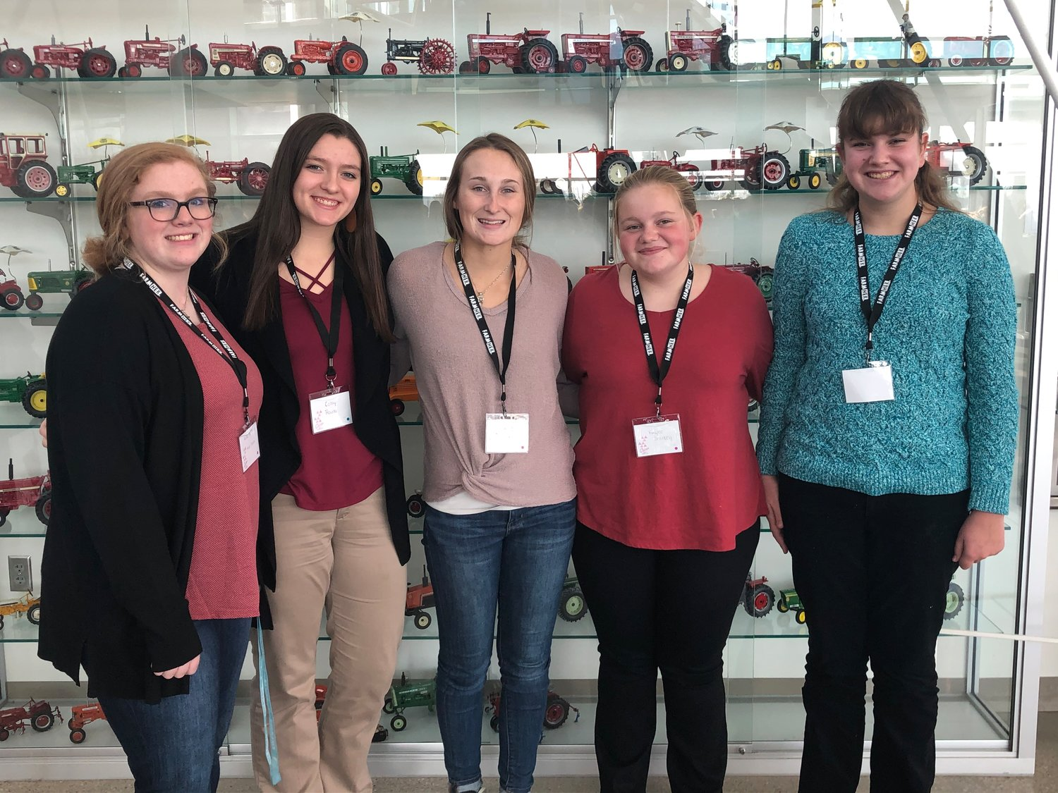 Mid-Prairie FFA members who attended the Nov. 15 FarmHer conference in Ankeny were (from left) Annie Morrison, Colby Rourke, Jaselyn Robertson, Kaylee Shirkey and Alexa Huber.