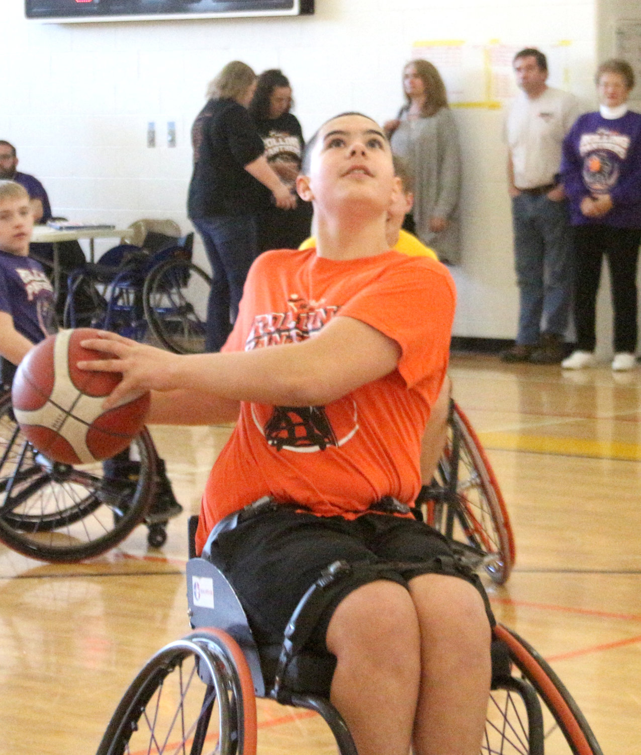 3-on-3 wheelchair basketball tournament fundraiser at Parkside Activities Center in Wellman on Saturday, March 7.