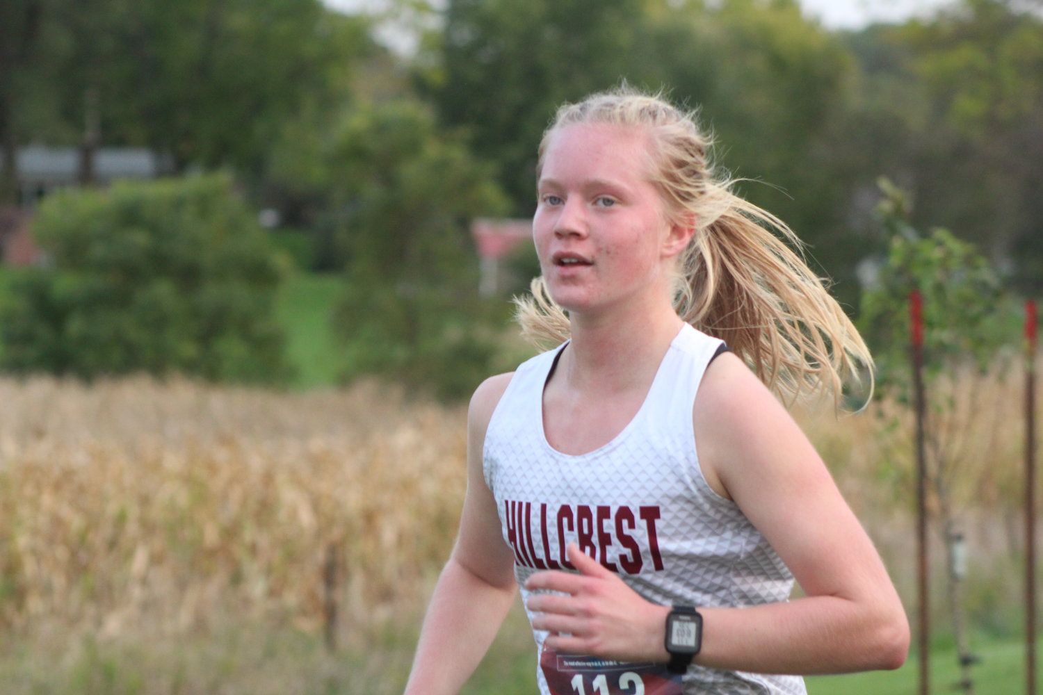 Leah Bontrager of Hillcrest Academy finished 26th with a time of 22:30.