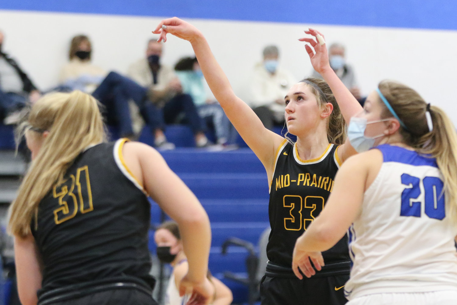 Most clutch performance: Maddie Nonnenmann at Monticello. The Mid-Prairie junior had 19 points and 11 rebounds in a 44-42 win over a Monticello team that finished the season 16-6.