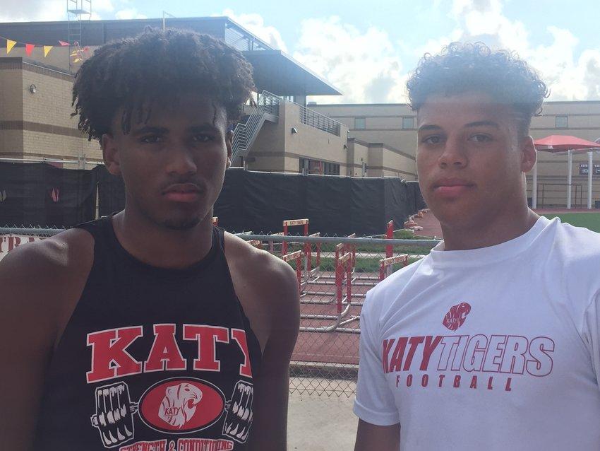 Katy junior Hunter Washington, left, and junior Dalton Johnson.