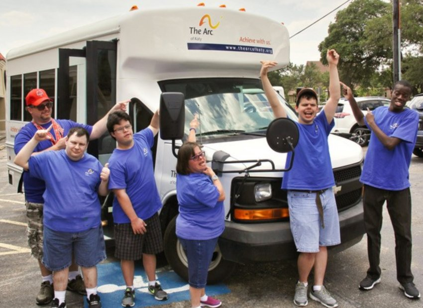 With funds from the annual gala, The Arc of Katy acquired a new bus to better serve participants. Photo courtesy of The Arc of Katy.