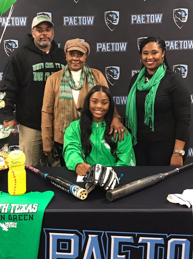 Paetow senior softball player Rayna Lewis is the first Paetow student-athlete to sign on National Signing Day