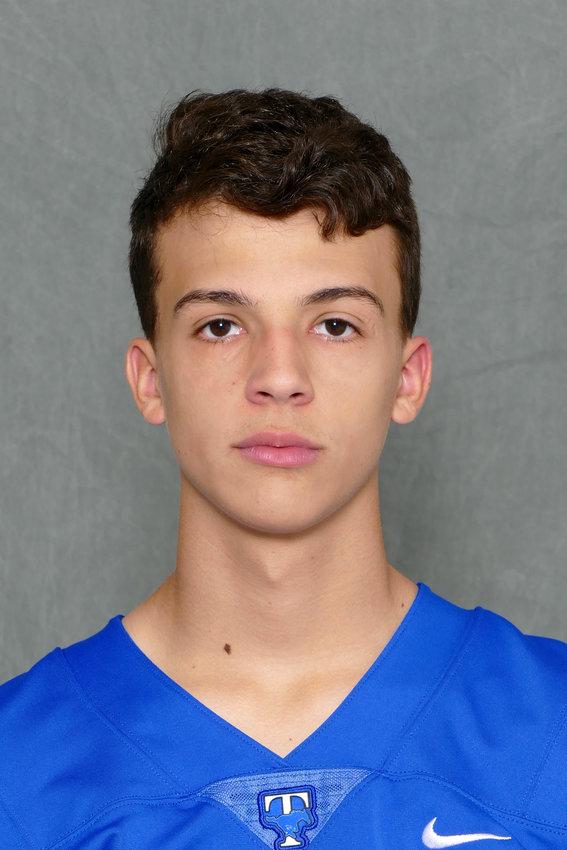 Taylor junior kicker Renan Baeta.