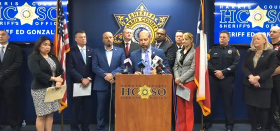 Harris County Sheriff's Office Captain Chris Sandoval briefed news outlets at 10 a.m. Jan. 18 regarding the outcome of Operation Kickoff 2020 – a human trafficking sting that netted 30 arrests and rescued at least six women from forced prostitution.