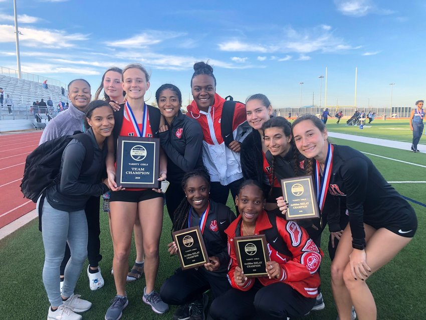 Katy High's girls won the team championship at the Bubba Fife Relays on Feb. 29 at Paetow High, scoring 131 points in a 26-team field.