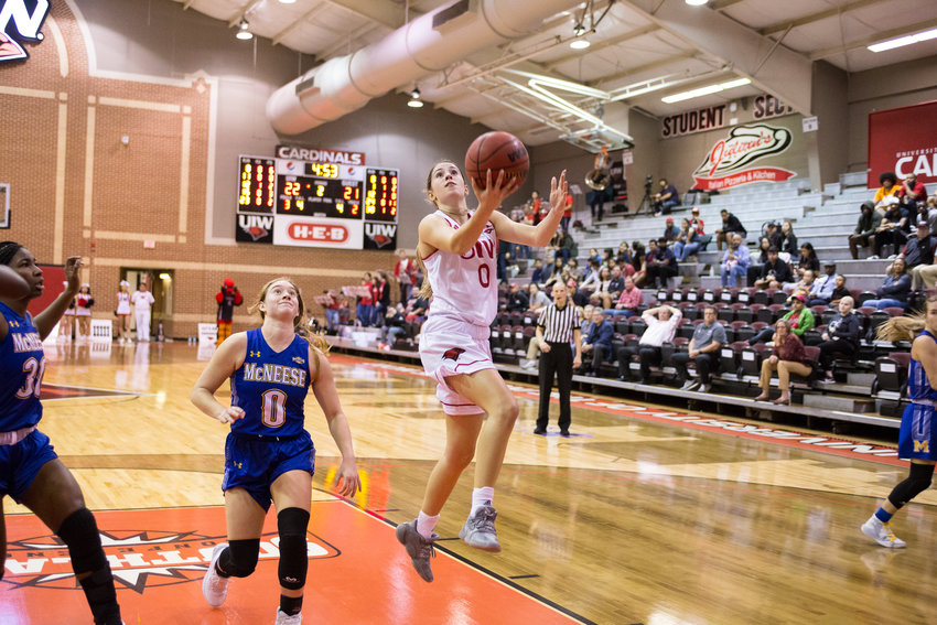 Former Taylor standout and Incarnate Word sophomore guard Macy Ray ranks second on the Cardinals in points per game (7.9), minutes per game (32.6) and assists per game (1.8).