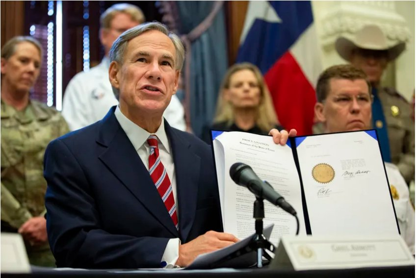 Gov. Greg Abbott declares a statewide emergency amid new cases of COVID-19 in the state.