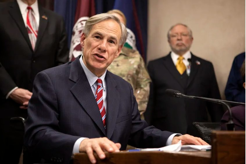 Gov. Greg Abbott addressed the press last month after a meeting with government officials on COVID-19 preparedness in the state.