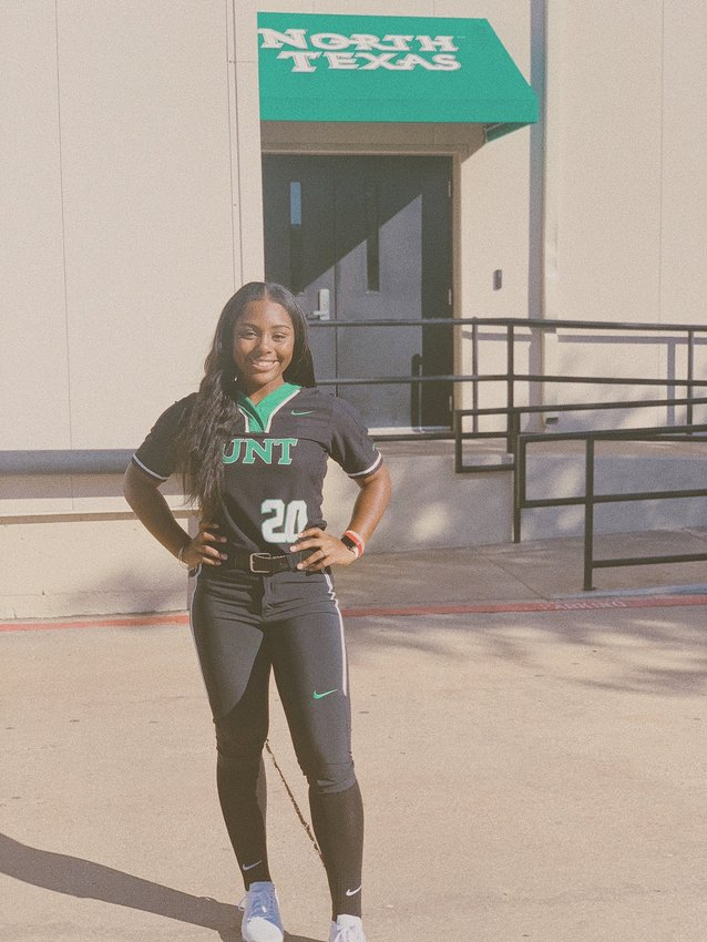 Rayna Lewis, a North Texas signee, is the first senior for Paetow's softball program. She's also the only one.