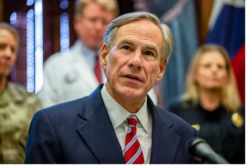 Gov. Greg Abbott at the state Capitol on March 13, 2020.