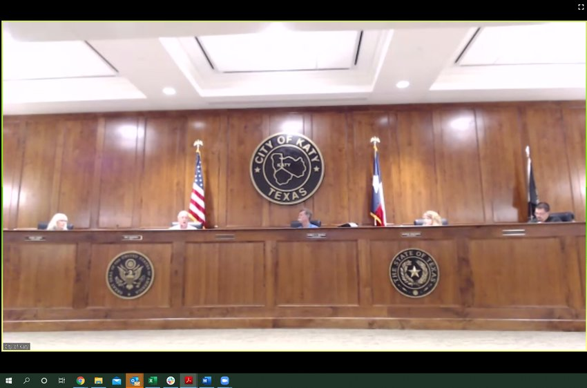 The Katy City Council held a virtual meeting at 6:30 p.m. with residents allowed to log into the meeting via telephone, Facebook Live and Zoom - a digital meeting platform in order to ensure that health risks were minimized and transparency was maintained.