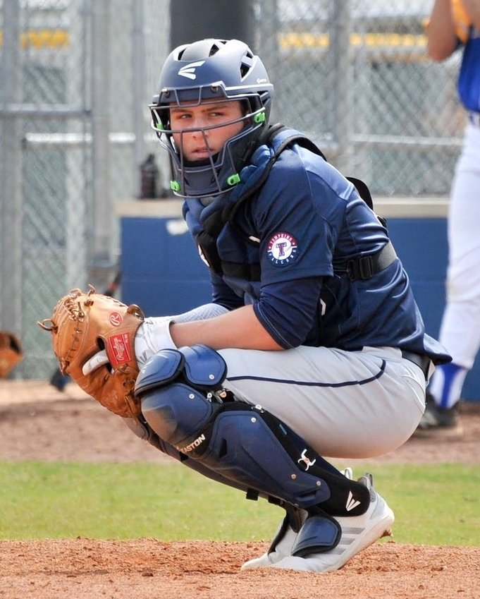 Tompkins senior catcher/first baseman Monray Van der Walt is a Lamar University signee.