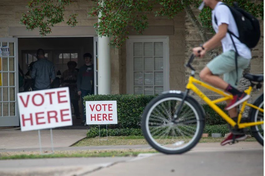 Williamson County residents voted on Super Tuesday at Southwestern University's Howry Center in Georgetown.