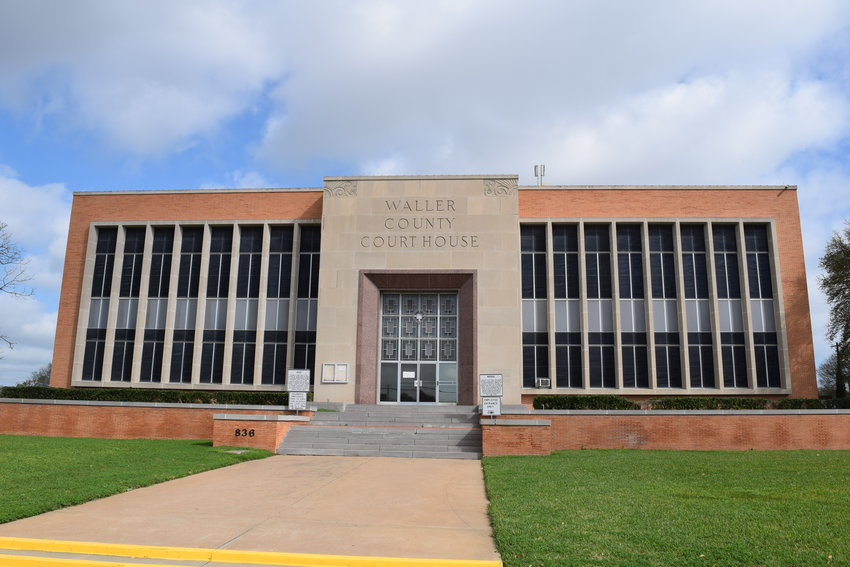 Waller County commissioners discussed construction and renovation of county facilities, the COVID-19 pandemic and accepted a criminal justice grant of more than $100,000. The meeting was held via teleconference to observe social distancing rather than at the county courthouse (pictured above).