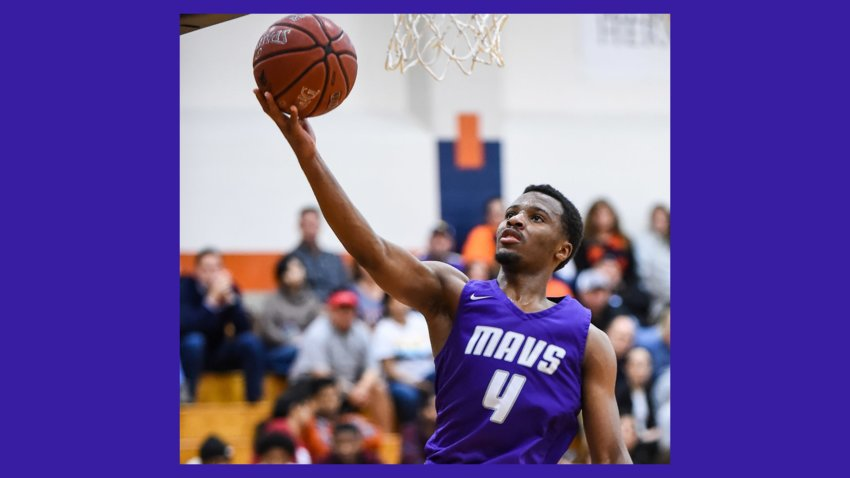 Morton Ranch High School's LJ Cryer averaged 38.9 points per game in his final high school basketball season in Katy ISD. He will move on to play for Baylor University in the fall. Here, Cryer goes for the shot in a January game against Seven Lakes High School.