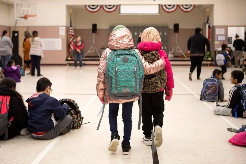 Cactus Elementary School in Cactus on Jan. 28, 2020.