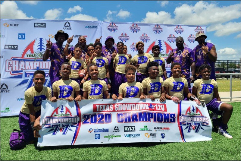 The 12U Katy Destroyers 7-on-7 football team earned the top spot from the TruXposur Texas Showdown last weekend at the Round Rock Multipurpose Complex. The team will look to claim another championship at their next tournament this weekend.