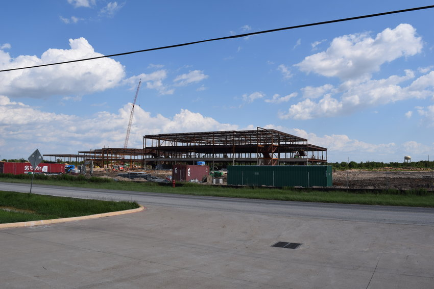 Katy ISD adopted its tax rate and budget at the Board of Trustees Aug. 24 meeting. Trustees also charged Superintendent Ken Gregorski with establishing a committee to decide on an official name for KISD Junior High 17. Pictured is progress as of Aug. 3 on JH 17.