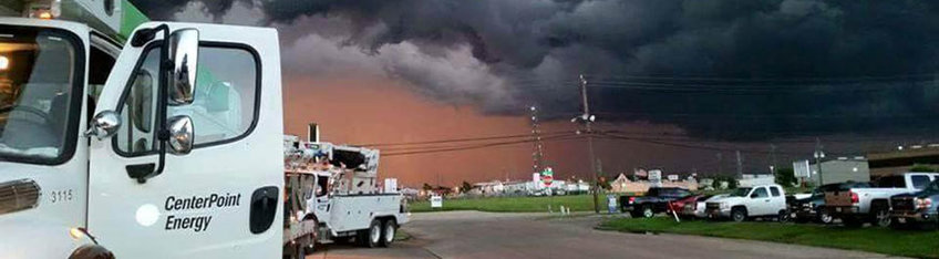 Line technicians from Centerpoint Energy have been deployed en-mass from the Houston area and other large Centerpoint hubs to assist with restoring power to the hurricane-struck portions of the Texxas and Louisiana coastline that was hit hard by Hurricane Laura.