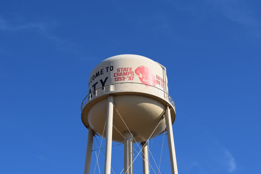 A fencing project was authorized to close off the area underneath of Katy's old water tower in the plaza just east of City Hall. The area beneath the tower will eventually be an outdoor heritage museum for the city, but in the meantime needs to be fenced off for safety purposes.