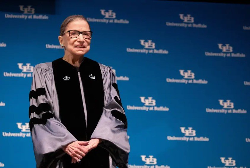 U.S. Supreme Court Justice Ruth Bader Ginsburg was presented with an honorary doctoral degree at the University of Buffalo School of Law in 2019. She died Friday at the age of 87. Nominated in 1993 by former President Bill Clinton, the liberal justice was the legal force behind many of the successes of the women's movement. In her later years, she became something of a cult figure in legal and feminist circles.