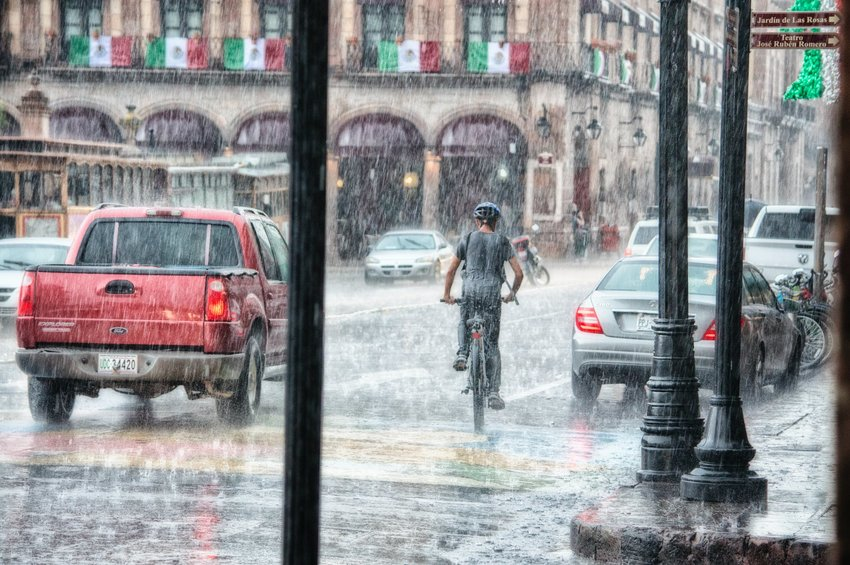The National Weather Service has issued a flood warning for the Katy area.