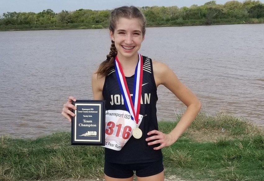 Jordan High freshman runner Addison Sutton.