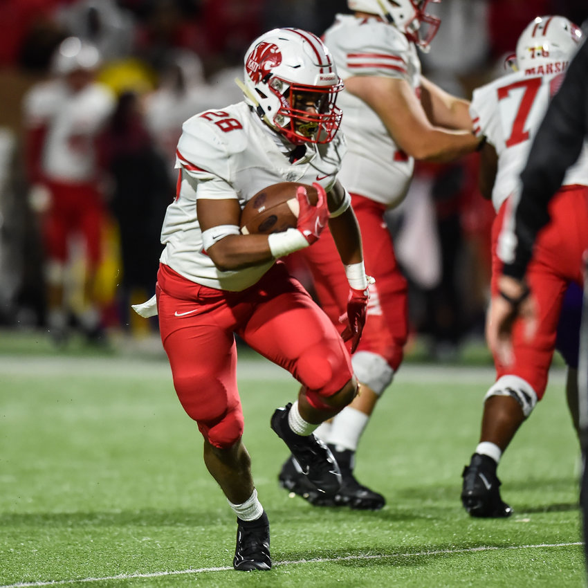 Katy senior running back Jalen Davis has scored five touchdowns in the Tigers' first two games of the season so far.