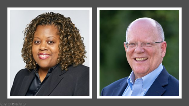 Democratic candidate Hope Martin (left) is challenging incumbent Republican Andy Meyers (right) for the opportunity to serve as Fort Bend County commissioner for Precinct 3.