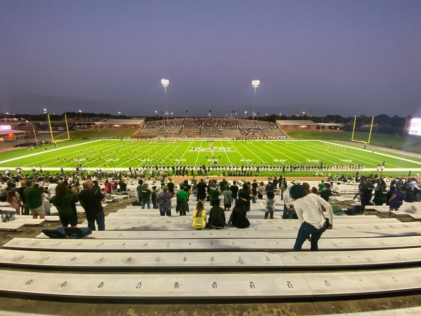 Katy ISD football games are only allowed to be at half-capacity due to COVID-19 regulations.