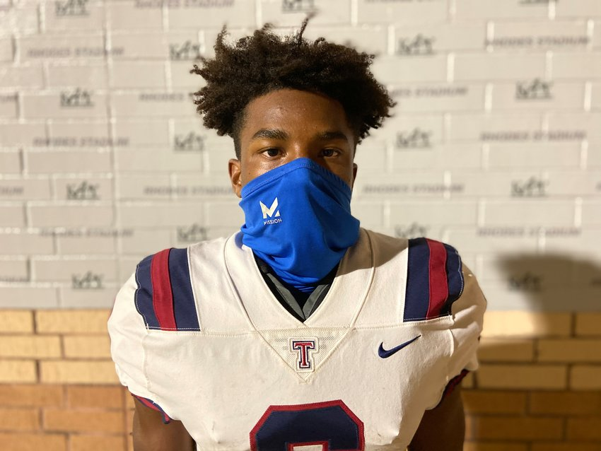 Tompkins senior running back Marquis Shoulders rushed for 184 yards and two touchdowns on nine carries in a 28-0 win over Taylor on Oct. 23 at Rhodes Stadium.