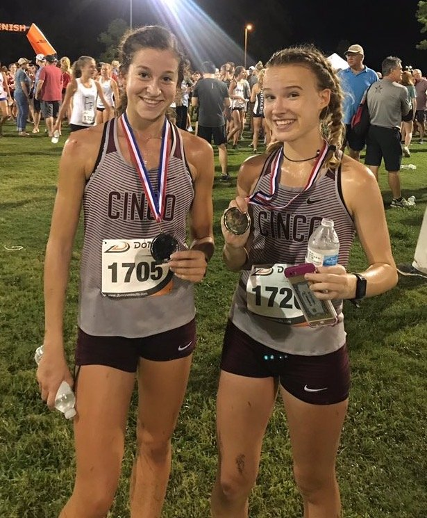 Cinco Ranch seniors Sophie Atkinson and Heidi Nielson have finished 1-2 in five cross country meets this season, including the district and regional meets, and have the Cougars back at the state meet for the first time since 2017.