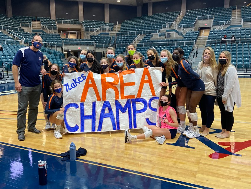Seven Lakes swept Cy-Creek in its Class 6A area playoff match Monday evening at the Merrell Center.