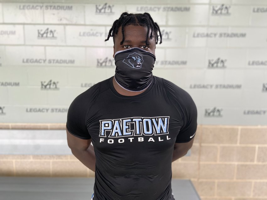 Paetow senior defensive end Agumba Otuonye had three sacks in the Panthers' 10-7 win over Hightower on Nov. 27 at Legacy Stadium.