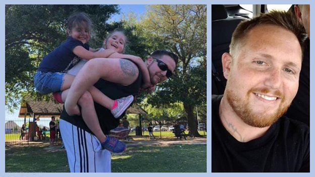 Christopher Houlihan, 30, of Houston was killed just north of Clay Road in the eastern portion of the Katy area. he leaves behind two daughters and a wife.