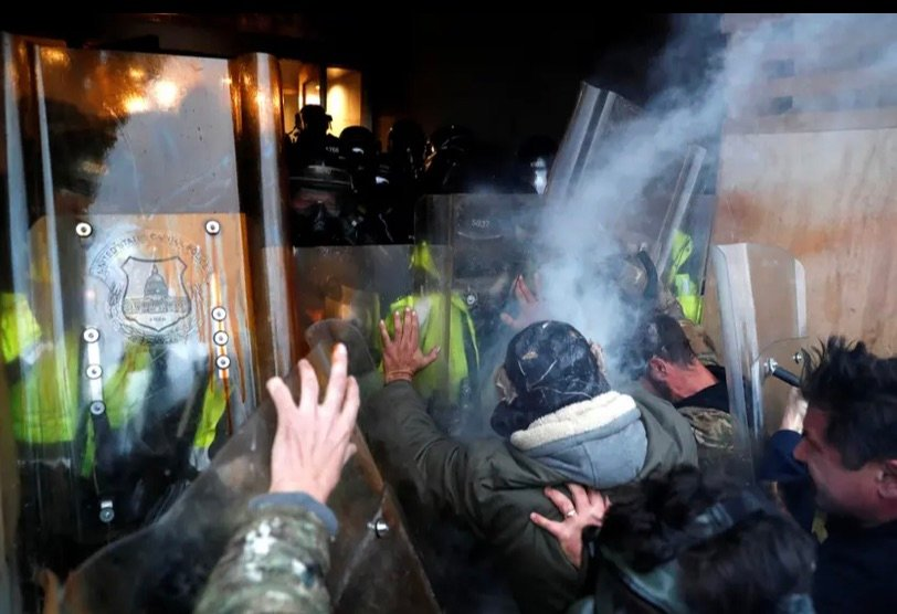 Pro-Trump rioters clashed with Capitol police Wednesday during a rally to contest the certification of the presidential election results by the U.S. Congress.