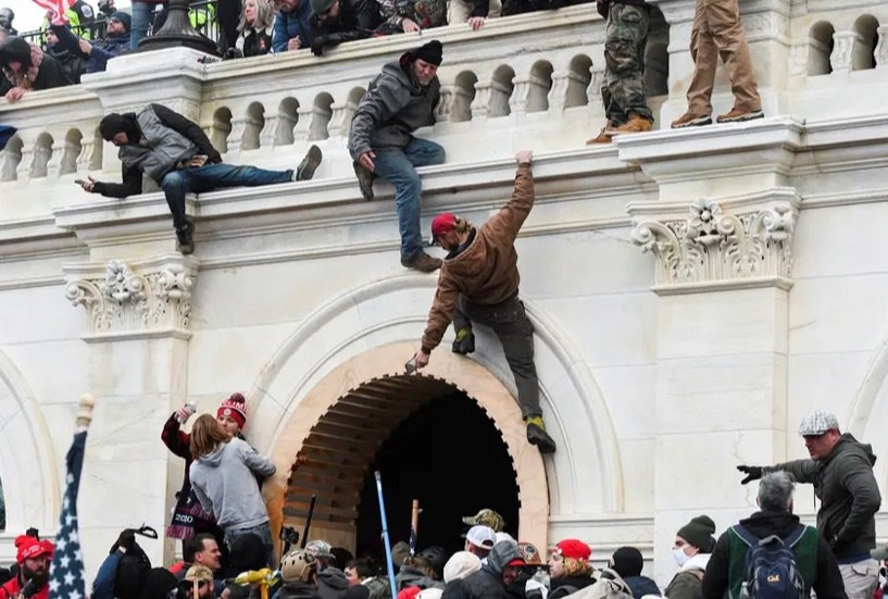 Pro-Trump rioters climbed walls at the U.S. Capitol on Wednesday during a protest against the certification of the 2020 presidential election results by Congress.
